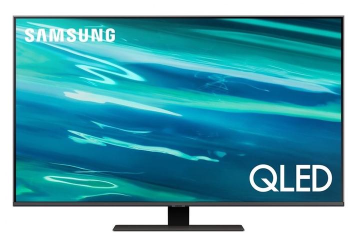 """Телевизор 50"""" Samsung """"QLED UHD 4K Smart TV QE50Q80AAUXRU"""", темно-серебр."""