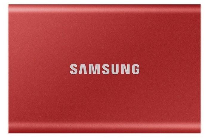 """Внешний SSD диск 500ГБ Samsung """"T7"""" MU-PC500R/WW, красный"""