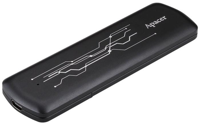 "Внешний SSD диск 512ГБ Apacer ""AS722"" AP512GAS722B-1, черный"