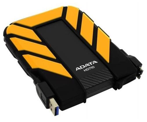 """Внешний жесткий диск 1ТБ 2.5"""" ADATA """"HD710 Pro"""" AHD710P-1TU31-CYL, желто-черный"""