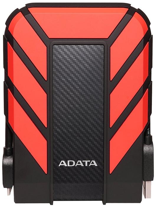 """Внешний жесткий диск 2ТБ 2.5"""" ADATA """"HD710 Pro"""" AHD710P-2TU31-CRD, черно-красный"""