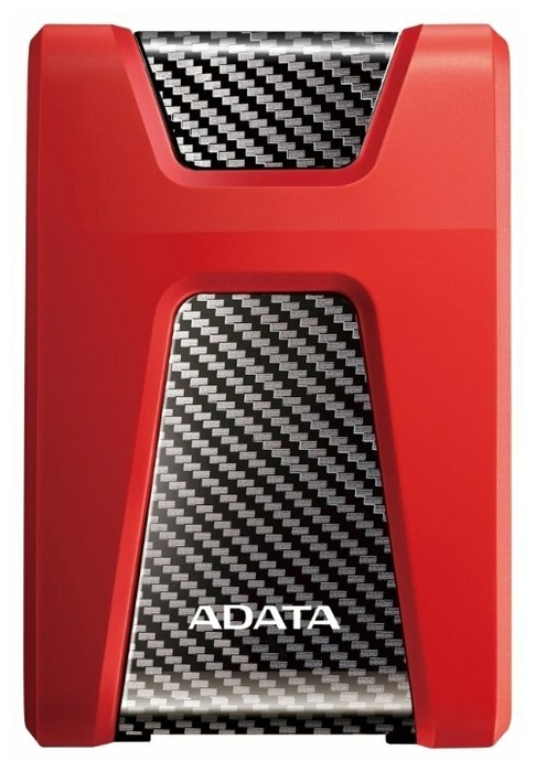 """Внешний жесткий диск 1ТБ 2.5"""" ADATA """"HD650"""" AHD650-1TU31-CRD, красно-черный"""