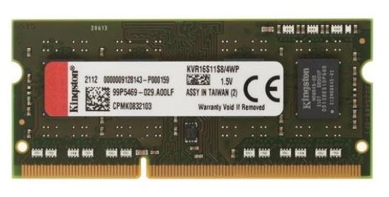 "Модуль оперативной памяти SO-DIMM 4ГБ DDR3 SDRAM Kingston ""ValueRAM"" KVR16S11S8/4WP"