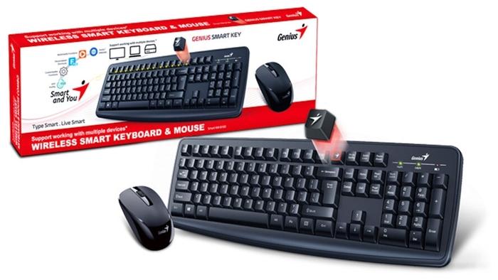 "null Комплект клавиатура + мышь Genius ""Smart KM-8100"", беспров., черный . null."