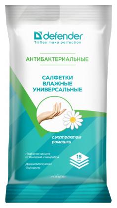 """Чистящее средство влажные салфетки Defender """"CLN 30330 Optima"""" антибактериальные"""
