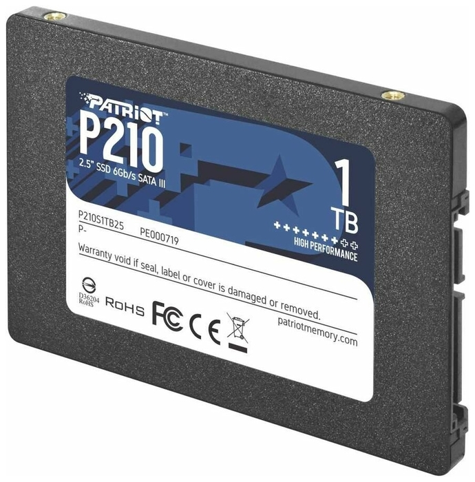 "SSD диск 1ТБ 2.5"" Patriot ""P210"" P210S1TB25"