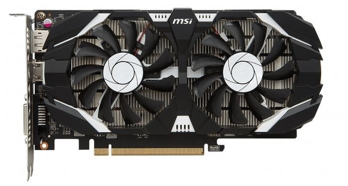 "Видеокарта MSI ""GeForce GTX 1050 Ti 4GT OCV1"""