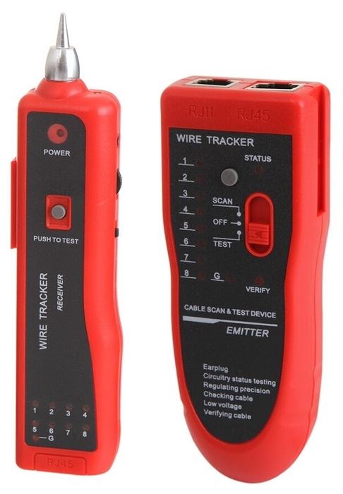 """Средство тестирования сетей Atcom """"AT5250"""" для кабелей RJ-11/RJ-12/RJ-45, кабельный тестер-трассоискатель"""