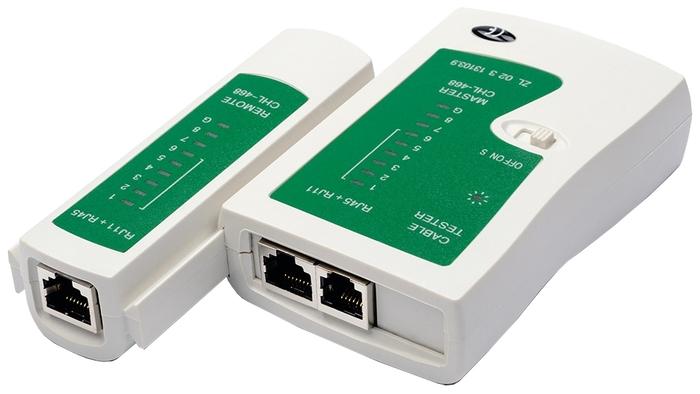 """Средство тестирования сетей Atcom """"AT5252"""" для кабелей RJ-11/RJ-12/RJ-45"""